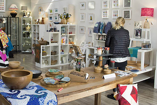 interior of the Cork Craft and Design shop