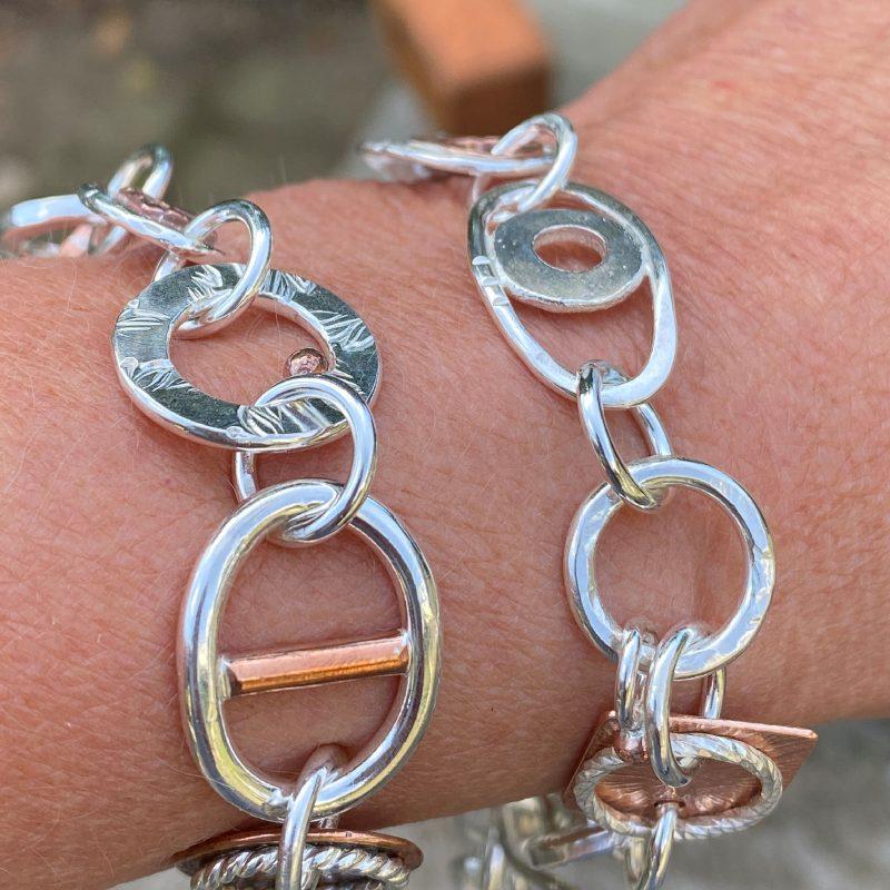 sterling-silve- handmade-large-link-Chaos-bracelet-model