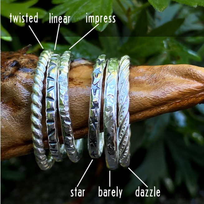 all 6 stacking rings on a leaf